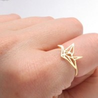 Jisensp New Arrival Tiny Geometric Origami Crane Rings for Women Cute Animal Ring Bird Anel Bague Jewelry Birthday Gift-in Rings from Jewelry & Accessories on AliExpress - Anillo, anillo, anillo