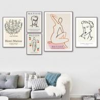 Винтажная абстрактная линия Matisse, рисунок тела, настенная живопись на холсте, скандинавские постеры и принты, настенные картинки для декора ... - Красивые постеры в ваш дом