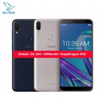 US $185.99 |ASUS ZenFone Max Pro M1 64G ZB602KL 4G LTE  6inch Snapdragon 636 Android 8.1 Face ID 16.0MP  3 Cameras  Mobile Phone-in Cellphones from Cellphones & Telecommunications on Aliexpress.com | Alibaba Group
