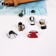 Timlee X077 Бесплатная доставка, милый горшок для мытья рук, филармонический фильтр, чашка, кофе, Chemex брошь, булавки, модные ювелирные изделия, опт... - Аксессуары до 300 руб