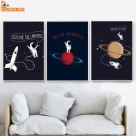 209.98 руб. 49% СКИДКА|Мультфильм Вселенная планета самолет астронавт стены искусства холст живопись плакаты на скандинавскую тему и принты настенные картины Детская комната Декор-in Рисование и каллиграфия from Дом и сад on Aliexpress.com | Alibaba Group