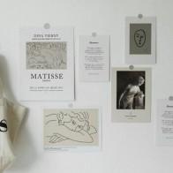 Простая Художественная открытка в скандинавском стиле, настенные наклейки, реквизит для фотосъемки, сделай сам, белый фон, украшение для ко... - Красивые постеры в ваш дом