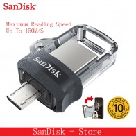 US $6.55 49% OFF|Sandisk 100% original Mini USB 3.0 Dual OTG USB Flash Drive 16GB 32GB 64GB 128GB PenDrives for Android phone 10 years warranty-in USB Flash Drives from Computer & Office on Aliexpress.com | Alibaba Group