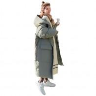 4310.29руб. 49% СКИДКА|Зимняя хлопковая длинная куртка парка, пальто в стиле BF, Свободная Повседневная теплая утолщенная куртка, верхняя одежда с капюшоном, пальто большого размера для женщин Q957-in Парки from Женская одежда on AliExpress - 11.11_Double 11_Singles