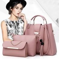 € 9.13 47% de DESCUENTO|Bolso de mano de mujer de 3 piezas conjunto 2019 bolsos de mensajero de mujer de moda bolso de hombro de señora de cuero de PU Casual de mujer bolso de mano mujer # N-in Bolsos de hombro from Maletas y bolsas on Aliexpress.com | Alibaba Group