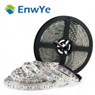 Enwye 5 м 300 светодио дный s водонепроницаемый RGB светодио дный полосы света 3528 5050 DC12V 60 светодио дный s/M гибкий светильник светодио дный лента украшения дома лампа купить на AliExpress