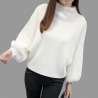 752.57 руб. 25% СКИДКА|2018 новые зимние женские Свитера Модные водолазки с рукавами «летучая мышь» пуловеры Свободные трикотажные свитера женские джемперы Pull Femme Hiver купить на AliExpress