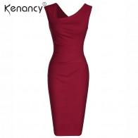 Kenancy 3 цвета однотонные пикантные нерегулярные вечерние праздничное платье для женщин офисные по колено без рукавов карандаш Vestidos эластич купить на AliExpress