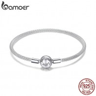 US $18.99 30% OFF|BAMOER Classic 100% 925 Sterling Silver Love Forever Love Snake Chain Bracelets Women Sterling Silver Jewelry 17CM 19CM SCB105-in Chain & Link Bracelets from Jewelry & Accessories on Aliexpress.com | Alibaba Group