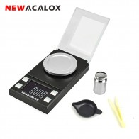 NEWACALOX 50g/100g/0.001g LCD Digital Jewelry Scales Lab Weight High Precision Scale Medicinal Portable Mini Electronic Balance-in Weighing Scales from Tools on AliExpress