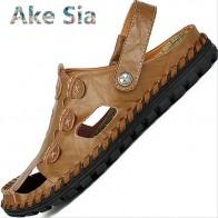 US $36.48 |0 2018 جديد جلد الرجال الصنادل الصيف منتصف العمر الرجال الصنادل الجلدية 45 ثقوب 46 حجم كبير 47 كبيرة 48 #116-في الكعب المتوسط من أحذية على Aliexpress.com | مجموعة Alibaba