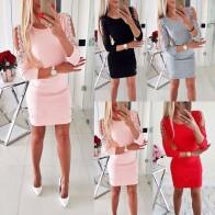 317.26 руб. 10% СКИДКА|Hirigin новейшее платье, сексуальное модное женское платье с открытыми плечами, Кружевное облегающее вечернее платье с длинными рукавами, мини платье карандаш для вечеринок-in Платья from Женская одежда on Aliexpress.com | Alibaba Group