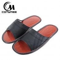 882.78 руб. 41% СКИДКА|CONYMEE/летние сандалии; коллекция 2018 года; мужская пляжная обувь из натуральной кожи; домашние тапочки; Pantufas; большие размеры; Вьетнамки; мужские кроссовки-in Тапочки from Туфли on Aliexpress.com | Alibaba Group