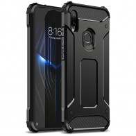 2 in 1 Hard PC Case For Xiaomi Redmi Note 7 Cover Dual Protection Shock Bumper Case for Redmi Note7 Black Business Case for man