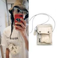 Маленькая сумка через плечо в стиле Харадзюку, Женская квадратная сумка, уличная Корейская мини-сумка-мессенджер, клатч, женские сумки, 2019 - Готовы к путешествиям