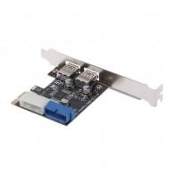 323.46 руб. 13% СКИДКА|Новый PCI Express USB 3,0 2 порта передняя панель с адаптером карты управления 4 Pin и 20 Pin Feb6-in Платы расширения from Компьютер и офис on Aliexpress.com | Alibaba Group