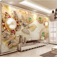 589.17 руб. 48% СКИДКА|Пользовательские обои 3D papel де parede Позолоченный полированный Алмазный цветок ювелирные изделия 5D обои для стен 8d фрески-in Обои from Товары для дома on Aliexpress.com | Alibaba Group