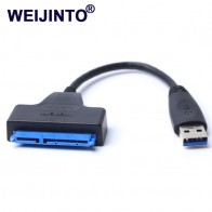 150.46 руб. 39% СКИДКА|USB 3,0 на Переходник SATA кабель 22pin sataIII к USB3, 0 адаптеров для 2,5