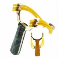 Профессиональный Slingshot Sling shot из алюминиевого сплава Slingshot Catapult Камуфляжный лук, не спешите играть на открытом воздухе - Покупаем для дачи
