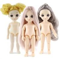 Мини кукла 16 см Bjd 13 шарнирных кукол игрушки для девочек голая кукла с розовыми желтыми коричневыми волосами телесного цвета модные куклы дл...