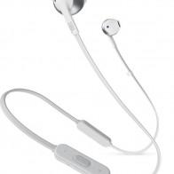 Наушники с микрофоном JBL T205BT, Bluetooth, белый/серебристый