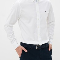 Рубашка Tommy Hilfiger Stretch Twill за 52 000 тг. в интернет-магазине Lamoda.kz
