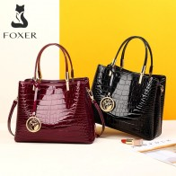FOXER, женские сумки, кошелек, женский, спилок, сумка на плечо, крокодиловый узор, сумка мессенджер, Женская Роскошная сумка, большая емкость on AliExpress