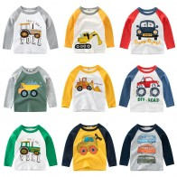US $4.79 20% OFF|Boys  T Shirt Long Sleeves Kids Girls Cotton Tops Children Baby Cars Print Cartoon Clothing Tee Toddler Clothes Infant Avengers-in T-Shirts from Mother & Kids on AliExpress