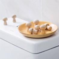 10 шт./упак. Репеллент для одежды в форме гриба, камфоры, деревянные москитные шарики - Для кухни