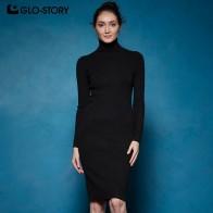 1563.39 руб. 40% СКИДКА|GLO STORY 2018 зимнее женское базовое платье свитер с высоким воротником, облегающее, сексуальное, вечернее элегантное платье для женщин WYQ 7628-in Платья from Женская одежда on Aliexpress.com | Alibaba Group