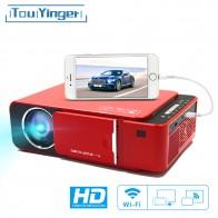 TouYinger T6 светодиодный видеопроектор HD 720P портативный HDMI вариант Android Wifi проектор Поддержка 4K Full HD 1080p домашний кинотеатр-in Проекторы для домашнего кинотеатра from Электроника on AliExpress