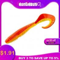 HuntHouse 5pcs/bag grub soft lure 7.5cm 3g worm lure soft plastic lures for fishing bass double color design pvc leurre souple