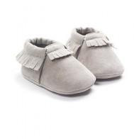 Мокасины из искусственной кожи для новорожденных, мягкие Нескользящие мокасины на мягкой подошве, для начинающих ходить, 2019 - Для новорожденных