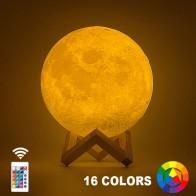 372.73 руб. 20% СКИДКА|Прямая поставка 3D печать Луны лампы 20 см 18 см 15 см Красочные Изменение Touch USB светодио дный Night Light Home Decor креативный подарок-in Ночники from Лампы и освещение on Aliexpress.com | Alibaba Group