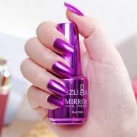 12 Цветной Гель-лак для ногтей зеркальная поверхность из нержавеющей стали цветной лак для ногтей металлический Яркий 18 мл маникюрный лак дл... - Насте