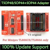 1221.5 руб. 15% СКИДКА|100% оригинальный V3 TSOP48 IC адаптер + SOP44 IC адаптер для MiniPro TL866CS TL866A TL866II плюс Универсальный программист TSOP48 розетки-in Интегральные схемы from Электронные компоненты и принадлежности on Aliexpress.com | Alibaba Group