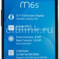 Смартфон MEIZU M6s 32Gb,  M712H,  черный