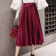 603.56 руб. 25% СКИДКА|Бархатная Длинная женская плиссированная юбка больших размеров, юбка макси, модная женская юбка Jupe-in Юбки from Женская одежда on Aliexpress.com | Alibaba Group
