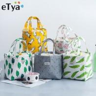 ETya, новые сумки для обеда, женские, портативные, функциональные, холщовые, для путешествий, изолированные, термальная еда, для пикника, для де... - time for lunch