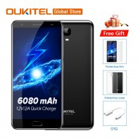 8503.14 руб. |Бесплатный подарок оригинальный Oukitel K6000 плюс, сеть 4G LTE, мобильный телефон, MTK6750T Octa Core 5,5