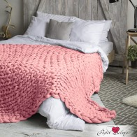 Плед hygge цвет: светло-розовый (60х100 см) dome из вязаной шерсти мериноса