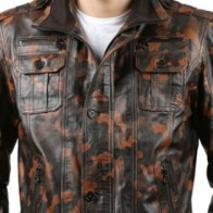 Мужская кожаная куртка Franko Armondi ME-K-295-16802 - Мужские кожаные куртки