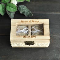 US $11.99 |Personalised Wedding Ring Box Double Ring Box Rustic Jewelry Box Wedding Ring Holder-in Party DIY Decorations from Home & Garden on Aliexpress.com | Alibaba Group