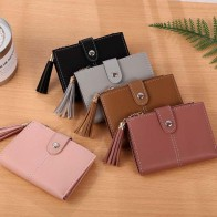 US $2.72 32% OFF|Maison Fabre  Women Simple Short Wallet Tassel Coin Purse Card Holders Handbag  coin purses holders Aug 15-in Coin Purses from Luggage & Bags on Aliexpress.com | Alibaba Group