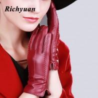 432.76 руб. 20% СКИДКА|Richyuan 2017 новые модные женские перчатки женские зимние теплые перчатки с сенсорным экраном варежки полный палец купить на AliExpress
