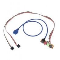 70 см USB 2,0 + 3,0 порт шасси ПК чехол для компьютера аудио Передняя панель Замена кабеля 1 шт. - Электроника