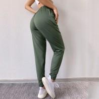 BINAND Loose Running Sports Pants Women Dry Fit Sport Pants Pocket Elastic Waist Fitness Gym Pants Lycra Training Trouser Ladies