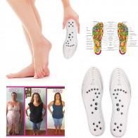 94.73 руб. 31% СКИДКА|2 шт./пара унисекс для похудения массажные стельки для ног ноги магнитный массаж для облегчения боли терапия Акупрессура стельки для ухода за ногами купить на AliExpress