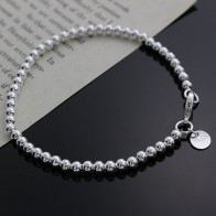 US $0.7 20% OFF|Beautiful fashion Elegant Gold color silver color 4MM beads chain women Letter cute Bracelet high quality Gorgeous jewelry H198-in Chain & Link Bracelets from Jewelry & Accessories on Aliexpress.com | Alibaba Group