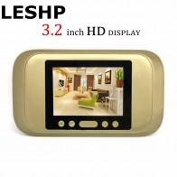 1788.27 руб. 25% СКИДКА|LESHP цифровой двери просмотра 3,2 светодио дный дисплей 720P HD глазок визуальный дверные звонки Ночь Версия для дома безопасности камера купить на AliExpress